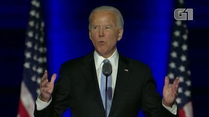Veja os melhores momentos do 1º discurso de Joe Biden como presidente eleito dos EUA