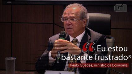 Paulo Guedes se diz 'bastante frustrado' por não ter conseguido vender estatais