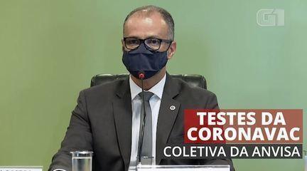 Anvisa diz que decisão de suspender os testes da CoronaVac foi 'técnica' e baseada na falta de informações