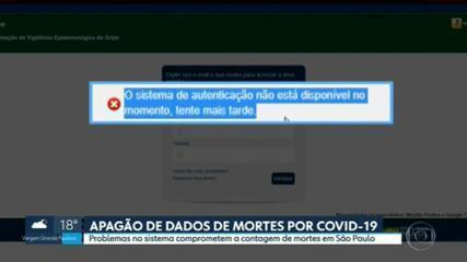 Problemas em sistema comprometem contagem de mortes por Covid-19 em São Paulo