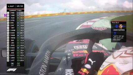 Verstappen pede para não fazer a parada no GP da Turquia