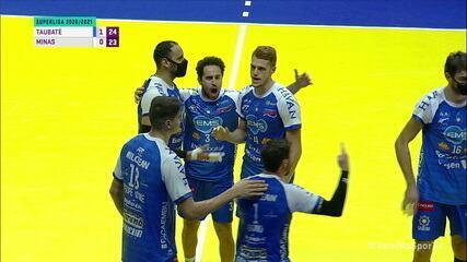 Pontos finais de Taubaté 3 x 0 Minas, pela Superliga Masculina de Vôlei
