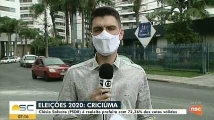 Clésio Salvaro é reeleito prefeito com 72,36% dos votos válidos em Criciúma