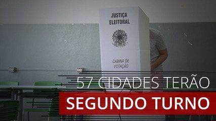 Eleições 2020: 57 cidades terão segundo turno