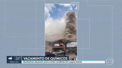Vazamento de produtos químicos assusta moradores de Lagoa Santa