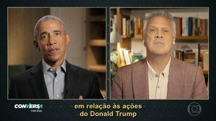 Barack Obama comenta 'pólvora e saliva' de Bolsonaro