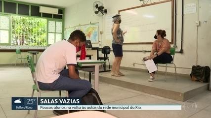 Foi baixa a adesão de alunos da rede municipal do Rio na volta às aulas