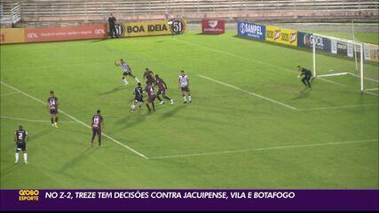 """No Z-2 da Série C, Treze tem """"decisões"""" contra Jacuipense, Vila Nova e Botafogo-PB"""