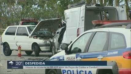 Vítimas de grave acidente na BR-459 entre Pouso Alegre e Congonhal são enterradas