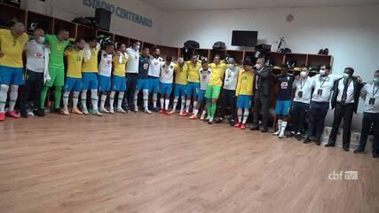 Veja os bastidores da vitória da Seleção sobre o Uruguai, pelas Eliminatórias