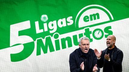 5 ligas em 5 minutos: Mourinho x Guardiola e confronto valendo liderança na Itália