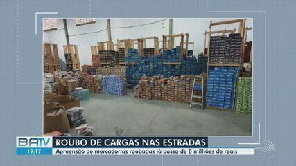 Oito milhões de reais em carga roubada são apreendidas nas regiões de Feira de Santana