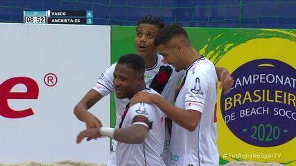 Os gols de Vasco 5 x 4 Anchieta pelo Campeonato Brasileiro de Futebol de Areia