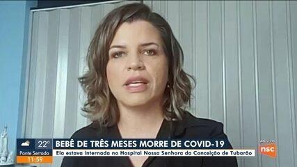 Bebê de três meses morre por Covid-19 no Sul de SC