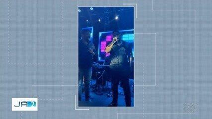 Cantores Bruno e Jorge fazem show em evento particular com aglomeração, em Goiânia