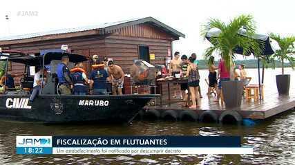 Flutuantes são fiscalizados em Manaus