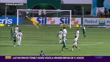 Com golaço de Figueira, Goiás vence o Palmeiras e quebra jejum de 11 rodadas na Série A