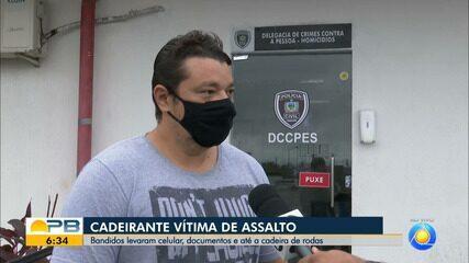 9047323 - Sacerdote tem cadeira de rodas roubada durante assalto, em João Pessoa | Paraíba