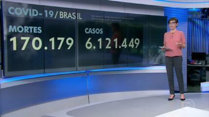 Brasil passa das 170 mil mortes por Covid-19