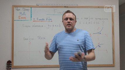 Videoaula de matemática ensina sobre a função afim