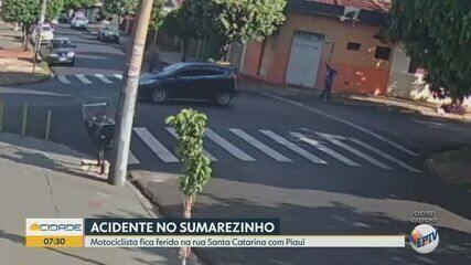Motociclista fica ferido em acidente no bairro Sumarezinho em Ribeirão Preto, SP