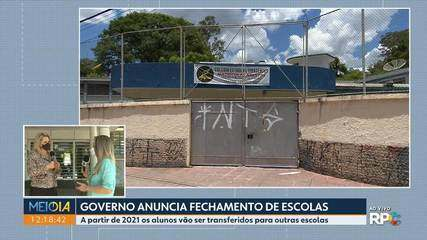 Governo anuncia fechamento de escolas estaduais