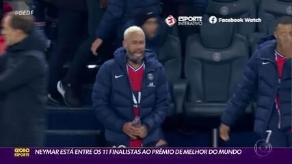 Entre os melhores do mundo, Neymar marca em vitória do PSG na Champions