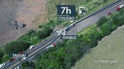 Empresa de ônibus envolvida em acidente com mais de 40 mortos em Taguaí é clandestina