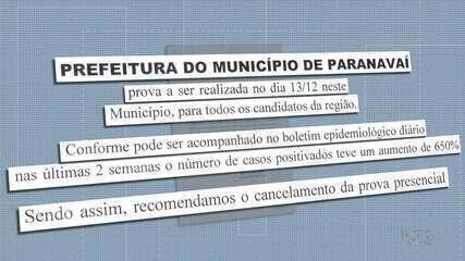 Secretaria de Saúde de Paranavaí pede cancelamento da prova do PSS