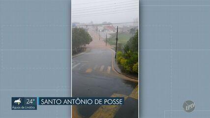 Chuva causa estragos e alagamentos em Holambra e Santo Antônio de Posse