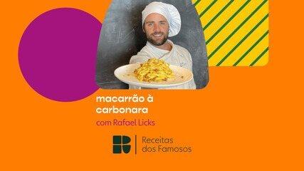 Rafael Licks ensina a fazer Macarrão à Carbonara