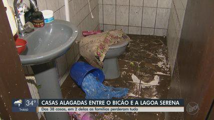 Casas ficam alagadas após temporal em São Carlos