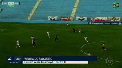 Salgueiro vence Guarany de Sobral por 2 a 0 e se classifica na segunda colocação
