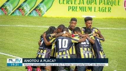 Volta Redonda atropela o Brusque e garante permanência na Série C