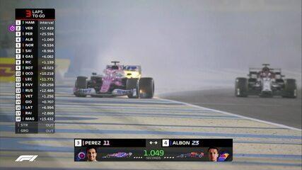 Carro de Perez tem problemas e pega fogo no GP do Bahrein