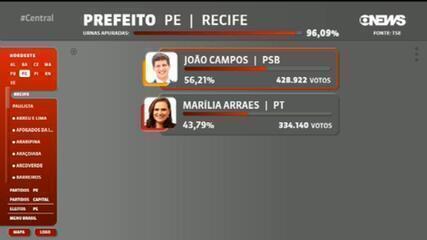João Campos (PSB) é eleito prefeito do Recife