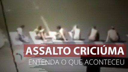 VÍDEO: Entenda o assalto ao Banco do Brasil em Criciúma (SC)