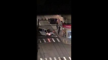 VÍDEO: veja momentos de troca de tiros durante assalto em Criciúma