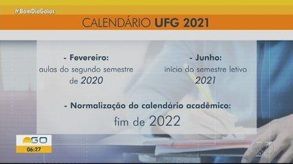UFG vai manter aulas remotas em 2021