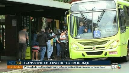 Termina hoje prazo para colocar mais ônibus circulando em Foz