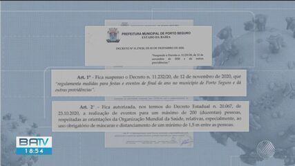 Prefeitura de Porto Seguro suspende decreto que permitia festas de final de ano na região