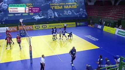Melhores momentos: Cruzeiro 3 x 0 Blumenau, pela Superliga Masculina de Vôlei
