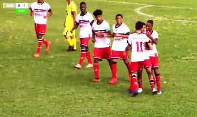 Os gols de Santo Antônio-MS 0 x 3 River-PI pelas oitavas de final da Copa do Brasil sub-17
