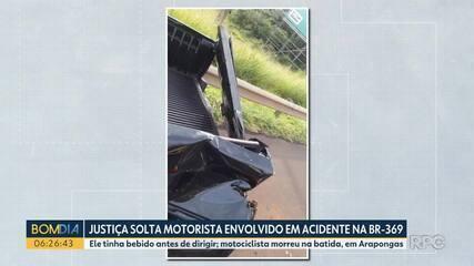 Motorista envolvido em acidente na BR-369 é solto
