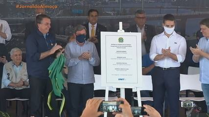 Presidente Jair Bolsonaro inaugura nova Ponte do Guaíba em Porto Alegre