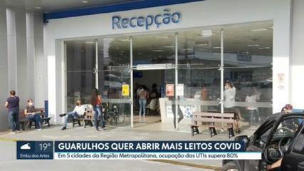 Guarulhos quer abrir mais leitos para pacientes com Covid