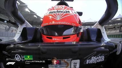 Pietro Fittipaldi vai para a pista no Q1 para o GP de Abu Dhabi