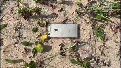 Ambientalista consegue recuperar celular que caiu de avião durante sobrevoo em Cabo Frio