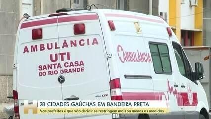 28 cidades gaúchas entraram hoje na classificação de risco altíssimo para covid