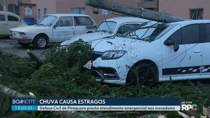 Chuva causa estragos na região metropolitana de Curitiba